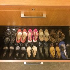 Office shoe drawer #whatthelibrarianwore submission via... librarian librarians librarianship librarian chic librarian fashion library love libraries books and libraries library law library lawlibrarian shoes high heel shoes heels shoe storage office storage commuter shoe addict style blog style work fashion fashion