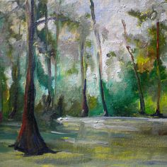 Hey, I found this really awesome Etsy listing at https://www.etsy.com/listing/73113792/misty-swamp-painting-original-louisiana