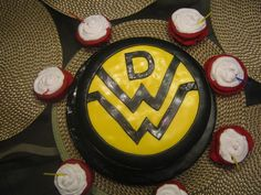 Down With Webster Birthday Cake with Red Cup Cupcakes for my sister :)