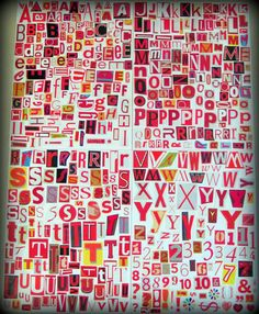 Digital Magazine Letters Cut-Outs. Red Series. $7