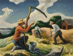 "lilithsplace: ""'Island Hay', 1945 - Thomas Hart Benton (1889–1975) source: """