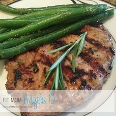 This 21 Day Fix Approved Herb Marinated Pork Loin Chop Recipe Is Delicious And Full Of Flavor My Family Loved This Meal And It Was Very Simple