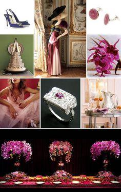 Fall and jewel tone color ideas, Vogue magazine wedding inspiration