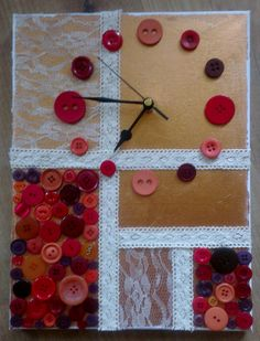Button Clock can be made in any colour by Quirkylittlething