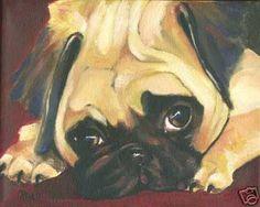 nice pug painting