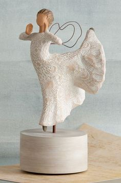 Song of Joy Musical - Willow Tree Figurine - The Shabby Shed  Sentiment: Singing... Soaring! All in universal harmony