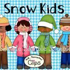 Dressed for winter fun!  Includes 4 kids 2 hats 2 scarves 2 mittens 7 houndstooth papers  7 line art images  24 images in all! 300dpi  Commercial u... $2.50