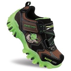 Skechers Star Wars Yoda Toddlers' Light-Up Sneakers, Toddler Boy's, Size: