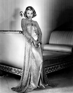 Effortlessly chic... Constance Bennett. I've been obsessed with this lace peignoir/dressing gown since I first saw this photo over a decade ago.
