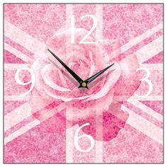 Union Jack rose clock