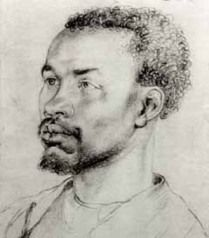 Actual drawing of Anthony Johnson. America's first slave owner in the U.S. was a black man.