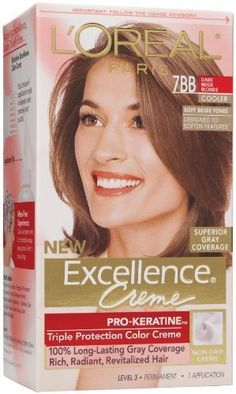 loreal paris excellence creme with pro keratine complex dark beige blonde 7bb - Coloration Excellence