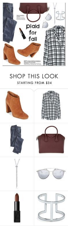 """Plaid for Fall"" by christinacastro830 ❤ liked on Polyvore featuring Sam Edelman, Marissa Webb, Wrap, Givenchy, Christian Dior, NARS Cosmetics and Vince Camuto"