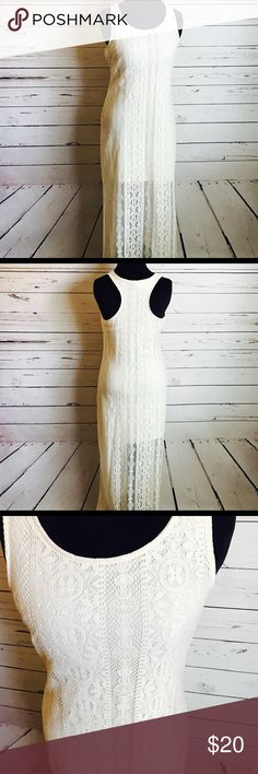 Summer dress maxi white ivory crochet size M/L Only worn once! So gorgeous and perfect for summer and spring. :-) Dresses Maxi