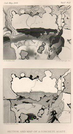 Found-Modern Art in Stone: Cartographic Concretions, 1868  JF Ptak Science Books   Post 2200