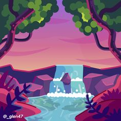 New Illustration - Secret Waterfall