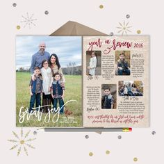Great Joy Year in Review Christmas Card  2 by gwenmariedesigns