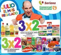 Julio Regalado en Soriana y Comercial Mexicana 3x2 en Shampoos, Jabones, Mascotas