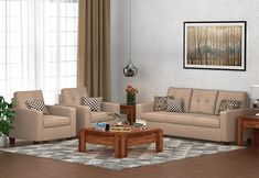 Nicolas 3+1+1 fabric sofa set is designed to give a royal look to your home interiors. The key traits of this fabric sofa set are its sleek design, soothing color, and tufting pattern on the backrest. The foundation of this fabulous sofa set is crafted from Sheesham wood and covered with premium quality of upholstery. Buy modern #fabricsofaset online from #woodenstreet #sofasets #fabricsofas #fabricsofa #sofadesigns