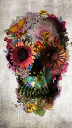 Sugar skull tattoo—Oh I know who can make this into a real floral piece ;) http://www.tattooesque.com/?s=skull&search-send=l