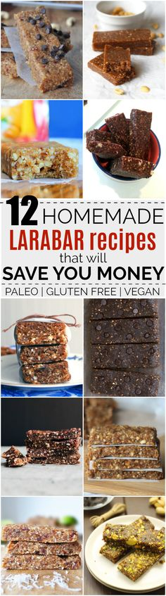 "12 Recipes for Homemade ""Larabars"" that Will Save You Money 