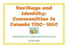Grade 3 Ontario Heritage and Identity Unit