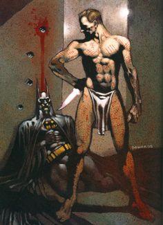 Batman and Mr Zsasz by Dermot Power Gotham Characters, Hugo Strange, Victor Zsasz, Western Comics, Arkham Asylum, Music Like, Comics Universe, Joker And Harley, Detective Comics