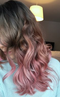 Ombre Hair Dye - Ideas for Ombre Blonde, Brunette and Colorful Colors - Haare Blond Pastel, Blond Rose, Pastel Grey, Ash Blonde, Pastel Pink Ombre Hair, Blonde To Pink Ombre, Blonde Hair, Rose Gold Ombre, Gold Hair Colors