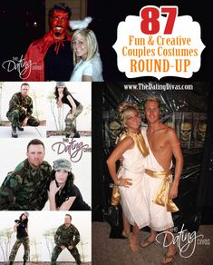 The ultimate couples costumes round-up ever!!! 87 couples costumes ideas that are fun, creative, classic, and trendy. www.TheDatingDivas.com #couplescostumes #halloween #creativecostumes