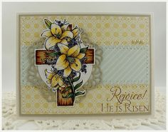 "Card made using ""He Is Risen"" set from Flourishes."