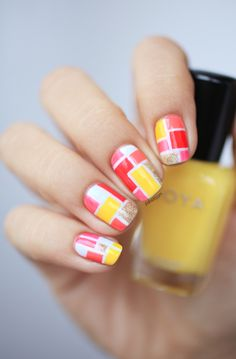Nail Art featuring Zoya Nail Polish in Creamy!
