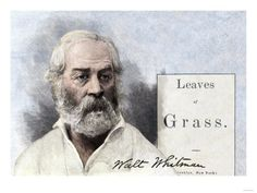 Walt Whitman and His First Edition Title Page of Leaves of Grass