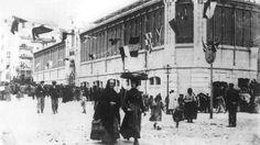 Mercado de la esperanza poco después de su inauguración, en 1904 - Santander - Cantabria