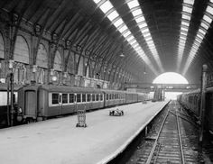 A deserted King's Cross Station in London during the Rail Strike
