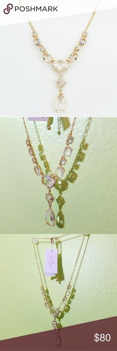 kate spade Crystal Necklace Gold-tone kate spade new york Crystal Cascade  Y-Necklace. kate spade Jewelry Necklaces