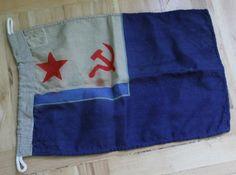 Orig Russian Big Flag UdSSR WOOL Navy KRIEGSMARINE Naval Ensign of the USSR 80s Naval Flags, Soviet Navy, Wool, Big, 1980s, Vintage, Military Uniforms