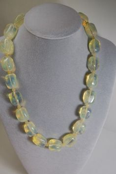 NATURAL-GENUINE-OPAL-GEMSTONE-LARGE-BEAD-NECKLACE-925-SILVER-CLASP