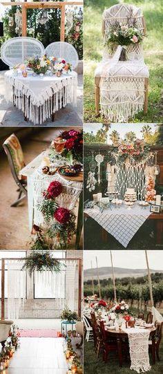 Macrame Boho Wedding Decoration Inspiration