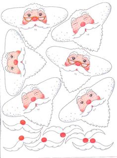 Santa face for Napkin Christmas Craft Fair, Frugal Christmas, Christmas Paper Crafts, Christmas Love, Christmas Printables, Christmas Colors, Handmade Christmas, Vintage Christmas, Christmas Holidays