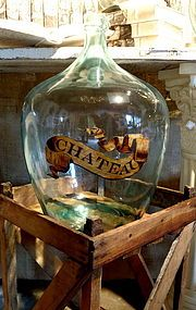 Vintage French Demi John Bottle w/crate