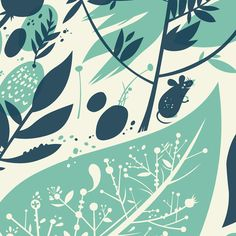 'Forest Floor', a print from The Little Friends of Printmaking