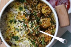 Vegetable Dum Biryani - This recipe is made with some of my favorite spices including green cardamom, saffron and cinnamon. Use a good pinch of saffron for a lovely colour to the rice. Served with some salad and boondi raita its the perfect one pot dish.