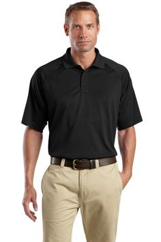 Buy the CornerStone - Select Snag-Proof Tactical Polo Style CS410 from SweatShirtStation.com, on sale now for $26.99 #polo #snagproof #cornerstone Black