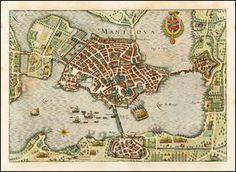 Mantova, Italy 1638 - Barry Lawrence Ruderman Antique Maps Inc.