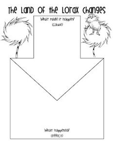 Lorax cause and effect graphic organizer