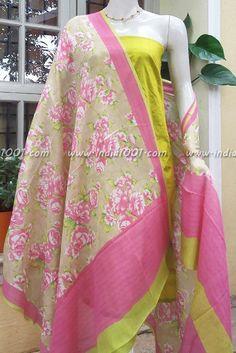 Crepe Dupatta & Raw Silk Kurta Fabric Silk Suit, Cotton Suit, Salwar Pattern, Western Dresses, Punjabi Suits, Crafts To Make, Ready To Wear, Saree, Costumes