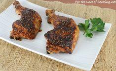 Teriyaki Glazed Chicken Hindquarters