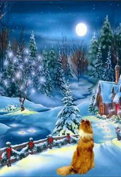 Magical Christmas and winter