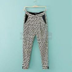 $20 Kitten Printed Chiffon Women Casual Harem Pants  ☺. ✿ ✿ Yoga Harem Pants, Harem Trousers, Women's Pants, Print Chiffon, Wholesale Fashion, Pants For Women, Sweatpants, Fashion Outfits, Stylish