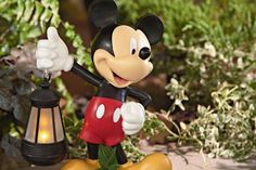 """This is a 12"""" version of Mickey and his solar Lantern."""